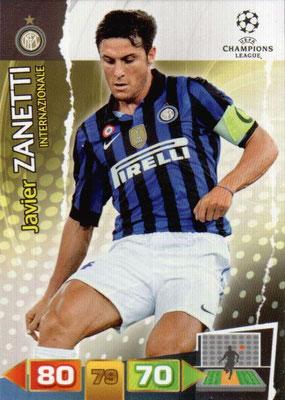 2011-12 - Panini Champions League Cards - N° 112 - Javier ZANETTI (Inter Milan)