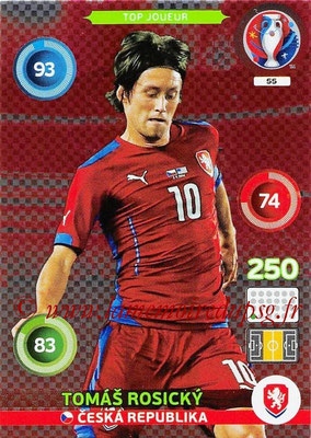 Panini Euro 2016 Cards - N° 055 - Tomas ROSICKY (République Tchèque) (Top Joueur)