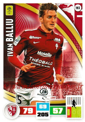 2016-17 - Panini Adrenalyn XL Ligue 1 - N° 193 - Ivan BALLIU (Metz)
