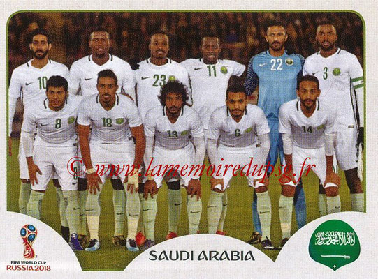 2018 - Panini FIFA World Cup Russia Stickers - N° 053 - Equipe Arabie Saoudite