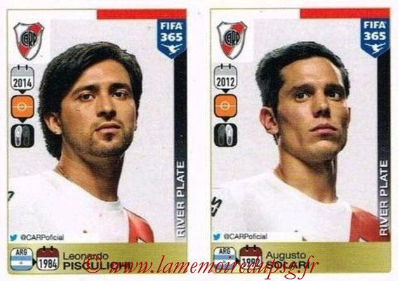 2015-16 - Panini FIFA 365 Stickers - N° 125-126 - Leonardo PISCULICHI  + Augusto SOLARI  (River Plate)