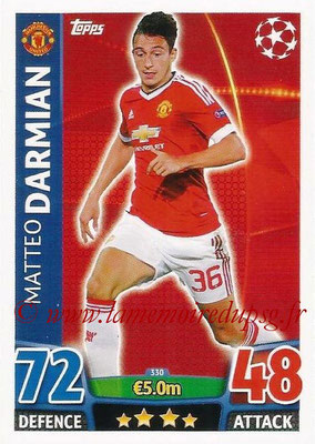 2015-16 - Topps UEFA Champions League Match Attax - N° 330 - Matteo DARMIAN (Manchester United)