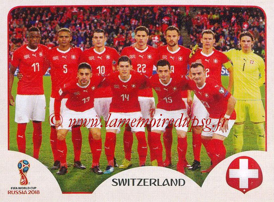 2018 - Panini FIFA World Cup Russia Stickers - N° 373 - Equipe Suisse