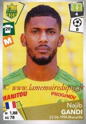 2017-18 - Panini Ligue 1 Stickers - N° 321 - Najib GANDI (Nantes)