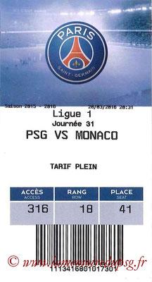 Tickets  PSG-Monaco  2015-16
