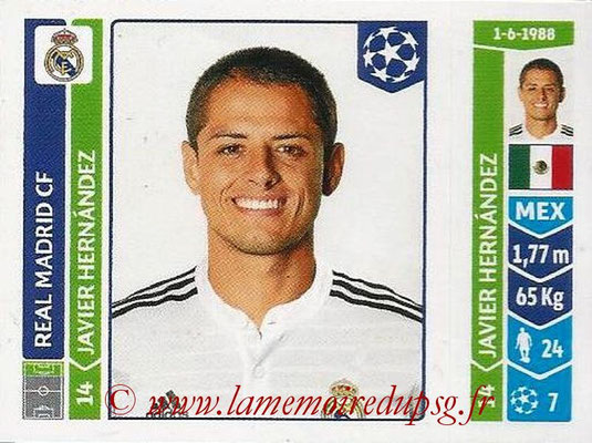 2014-15 - Panini Champions League N° 126 - Javier HERNANDEZ (Real Madrid FC)