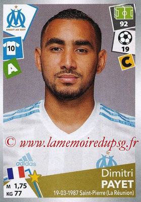 2017-18 - Panini Ligue 1 Stickers - N° 226 - Dimitri PAYET (Marseille)