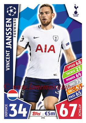 2017-18 - Topps UEFA Champions League Match Attax - N° 141 - Vincent JANSSEN (Tottenham Hotspur)