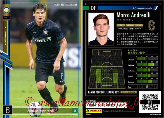 Panini Football League 2015 - PFL11 - N° 012 - Marco ANDREOLLI (Inter)