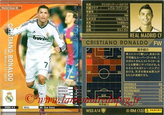 2012-13 - WCCF - N° WSS4 - Cristiano RONALDO (Real Madrid CF) (World Class SS)