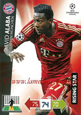 2012-13 - Adrenalyn XL champions League N° 052 - David ALABA (FC Bayern Munich) (Rising Star)