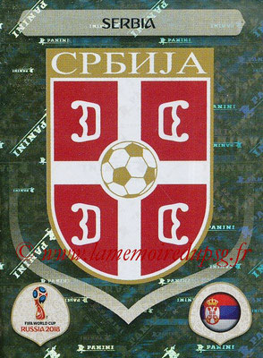 2018 - Panini FIFA World Cup Russia Stickers - N° 412 - Ecusson Serbie