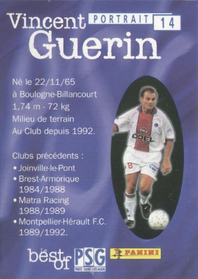 N° 014 - Vincent GUERIN (Verso)