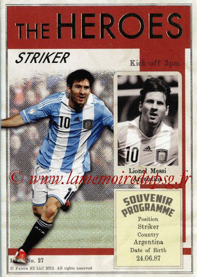 2013 - Futera World Football Unique - N° HER27 - Lionel MESSI (Argentine) (Striker) (The Heroes)