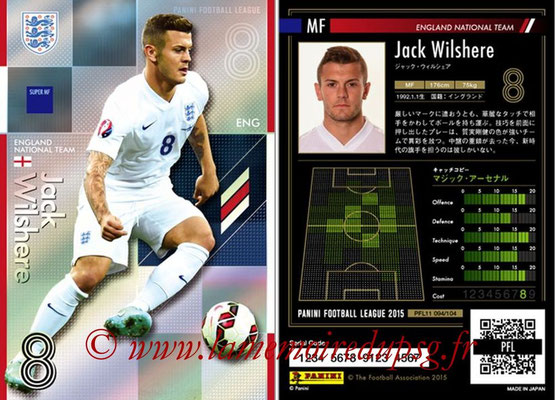 Panini Football League 2015 - PFL11 - N° 094 - Jack WILSHERE (Angleterre) (Super MF)