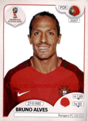 2018 - Panini FIFA World Cup Russia Stickers - N° 115 - Bruno ALVES (Portugal)