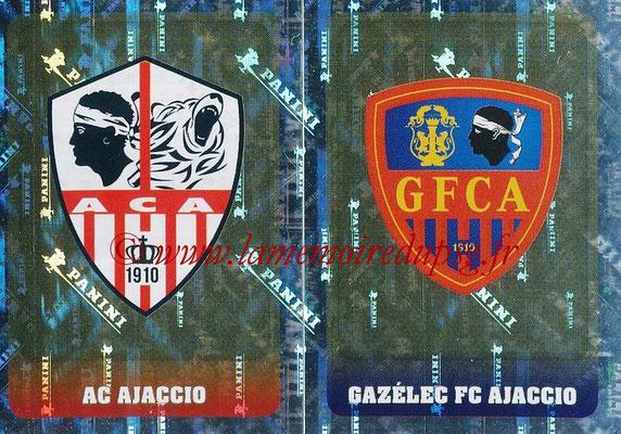 2018-19 - Panini Ligue 1 Stickers - N° 513 - Ecussons AC Ajaccio + Gazélec Ajaccio