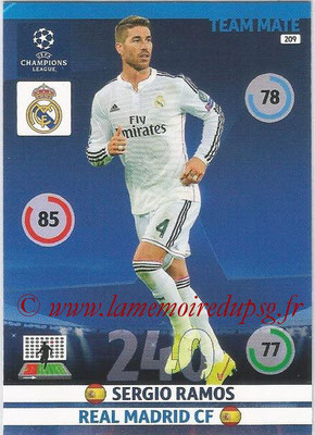 2014-15 - Adrenalyn XL champions League N° 209 - Sergio RAMOS (Real Madrid CF)
