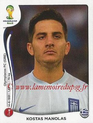 2014 - Panini FIFA World Cup Brazil Stickers - N° 211 - Kostas MANOLAS (Grèce)