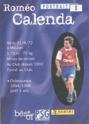 N° 008 - Romeo CALENDA (Verso)