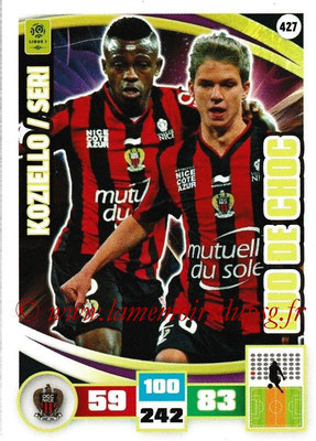 2016-17 - Panini Adrenalyn XL Ligue 1 - N° 427 - Vincent KOZIELLO + Jean Michaël SERI  (Paris Saint-Germain) (Duo de Choc)