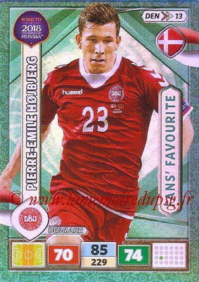 2018 - Panini Road to FIFA World Cup Russia Adrenalyn XL - N° DEN13 - Pierre-Emile HOJBJERG (Danemark) (Fans' Favourite)