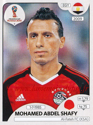 2018 - Panini FIFA World Cup Russia Stickers - N° 081 - Mohamed ABEL SHAFY (Egypte)