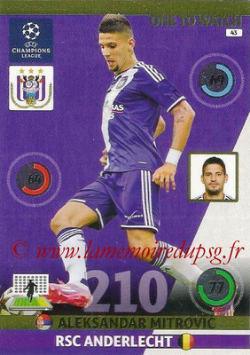 2014-15 - Adrenalyn XL champions League N° 043 - Aleksandar MITROVIC (RSC Anderlecht) (One to Watch)