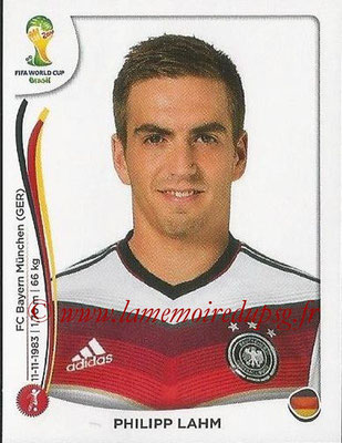 2014 - Panini FIFA World Cup Brazil Stickers - N° 491 - Philipp LAHM (Allemagne)