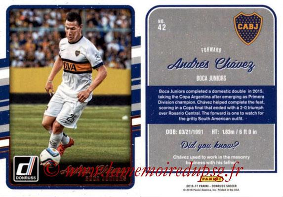 2016 - Panini Donruss Cards - N° 042 - Andrés CHAVEZ (CA Boca Juniors)