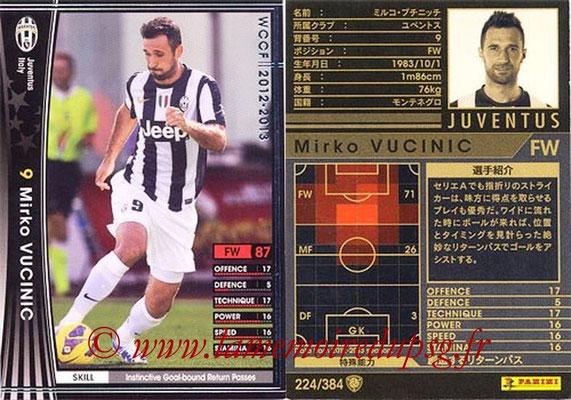 2012-13 - WCCF - N° 224 - Mirko VUCINIC (Juventus FC)