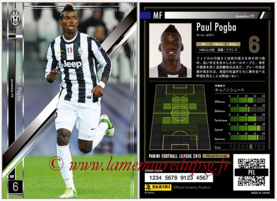 Panini Football League 2013 - PFL03 - N° 011 - Paul Pogba (Juventus FC)