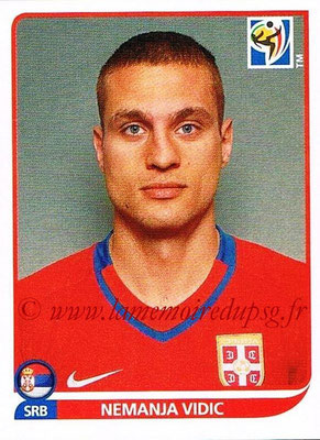 2010 - Panini FIFA World Cup South Africa Stickers - N° 299 - Nemanja VIDIC (Serbie)