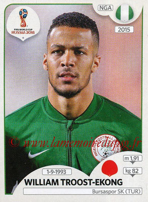 2018 - Panini FIFA World Cup Russia Stickers - N° 337 - William TROOST-EKONG (Nigeria)