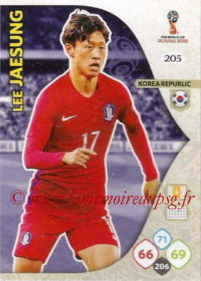 2018 - Panini FIFA World Cup Russia Adrenalyn XL - N° 205 - Lee JAE-SUNG (Corée du Sud)