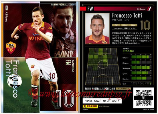 Panini Football League 2013 - PFL03 - N° 141 - Francesco Totti (AS Roma) (Bandiera)