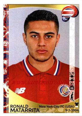 Panini Copa America Centenario USA 2016 Stickers - N° 075 - Ronald MATARRITA (Costa Rica)