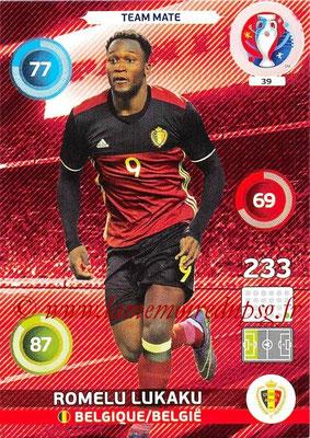 Panini Euro 2016 Cards - N° 039 - Romelu LUKAKU (Belgique)