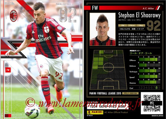 Panini Football League 2015 - PFL11 - N° 005 - Stephan EL SHAARAWY (Milan AC) (Star)