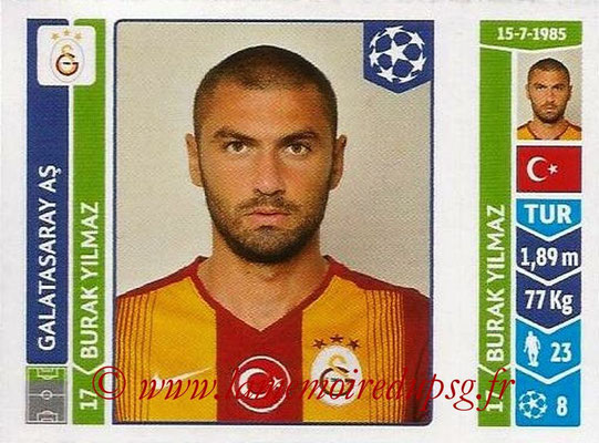 2014-15 - Panini Champions League N° 299 - Burak YILMAZ (Galatasaray AS)