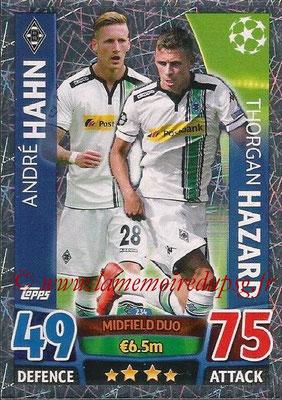 2015-16 - Topps UEFA Champions League Match Attax - N° 234 - André HAHN + Thorgan HAZARD (VfL Borussia Mönchengladbach) (Midfield Duo)