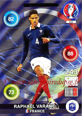 Panini Euro 2016 Cards - N° 133 - Raphaël VARANE (France) (Defensive Rock)