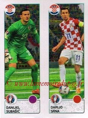 Panini Euro 2016 Stickers - N° 432 - Danijel SUBASIC +  Darijo SRNA (Croatie)