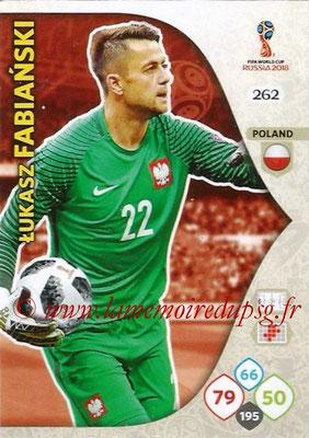 2018 - Panini FIFA World Cup Russia Adrenalyn XL - N° 262 - Lukasz FABIANSKI (Pologne)