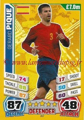Topps Match Attax England 2014 - N° 207 - Gerard PIQUE (Espagne)