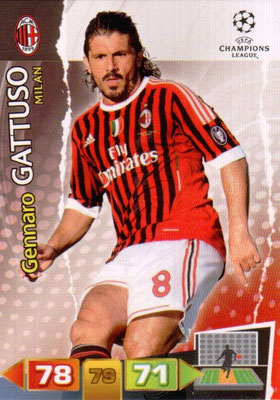 2011-12 - Panini Champions League Cards - N° 166 - Gennaro GATTUSO (Milan AC)