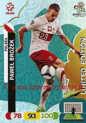 Panini Euro 2012 Cards Adrenalyn XL - N° LE37 - Pawel BROZEK (Pologne) (Limited Edition)