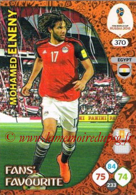 2018 - Panini FIFA World Cup Russia Adrenalyn XL - N° 370 - Mohamed ELNENY (Egypte) (Fans' Favourite)