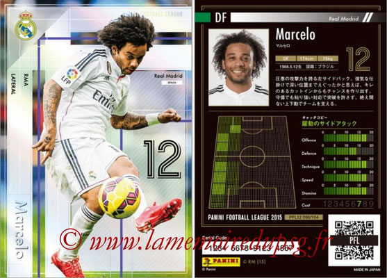 Panini Football League 2015 - PFL12 - N° 098 - MARCELO (Real Madrid) (Lateral)