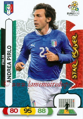 Panini Euro 2012 Cards Adrenalyn XL - N° 124 - Andrea PIRLO (Italie) (Star Player)